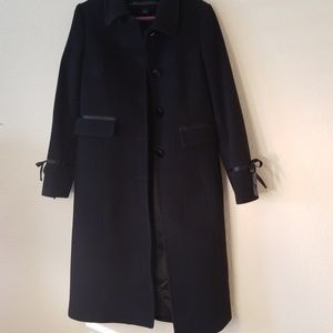 wool and cashmere trench coat